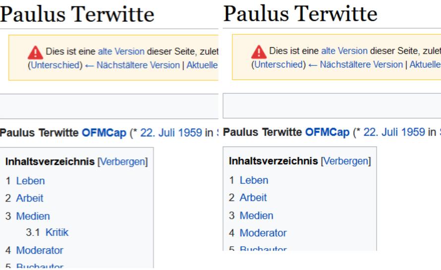 Wikipedie, vorher - nachher